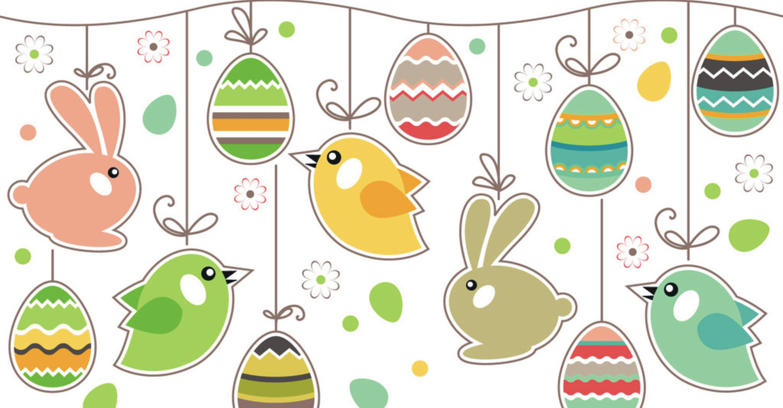 卡通小动物.; 矢量卡通彩蛋动物花纹设计; 卡通背景